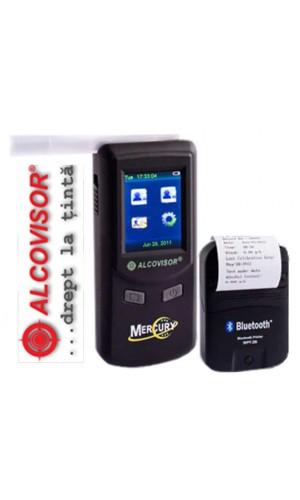 Etilotest profesional AlcoVisor Mercury cu imprimantă wireless